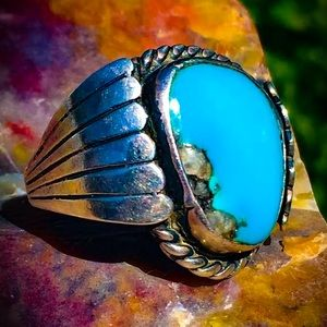 SOLD Navajo Native turquoise Sterling ring real